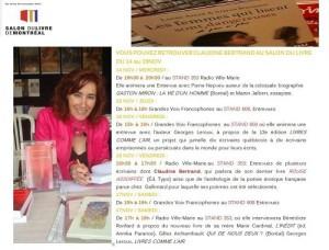Dédicaces au Salon du Livre 2012
